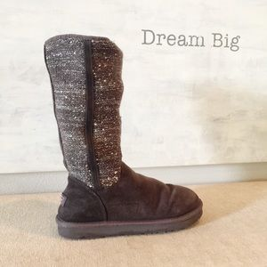 Gray Suede Sweater Canada Tall UGG Boots 10